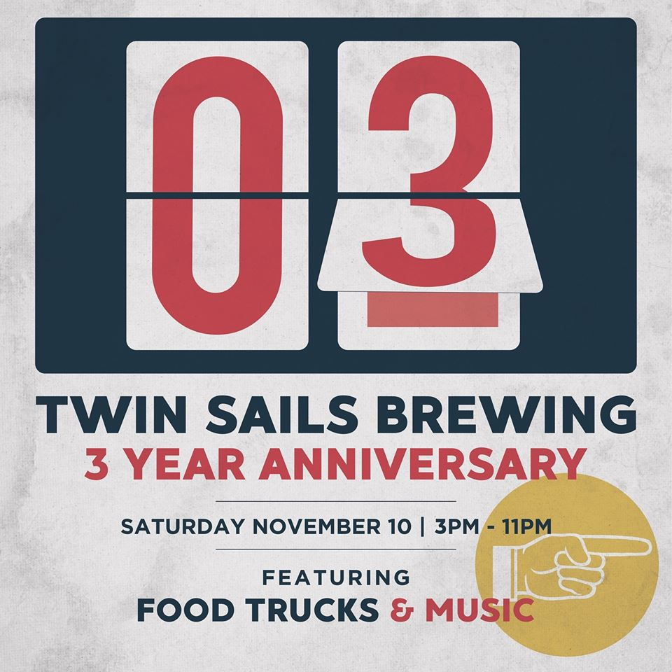 Twin Sails Brewing 3 Year Anniversary