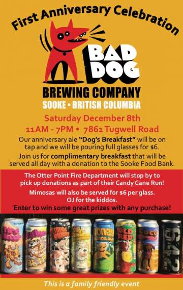 Bad Dog Brewing Company 1st Anniversary