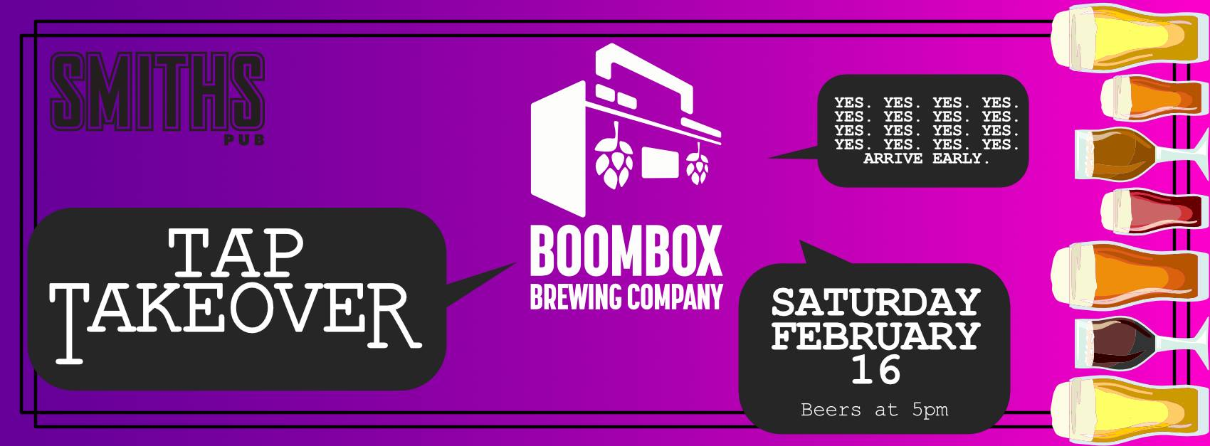 Boombox Brewing Tap Takeover