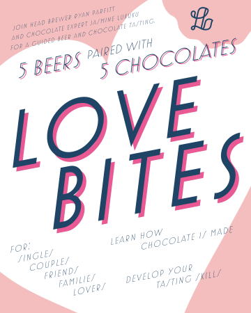 Love Bites: Beer & Chocolate Pairing @ Luppolo Brewing Company |  |  |