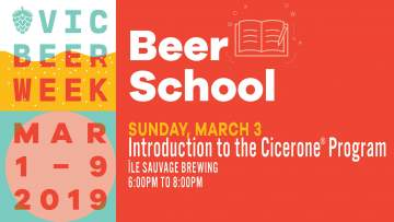 Beer School: Introduction to the Cicerone Program @ Île Sauvage Brewing Co.