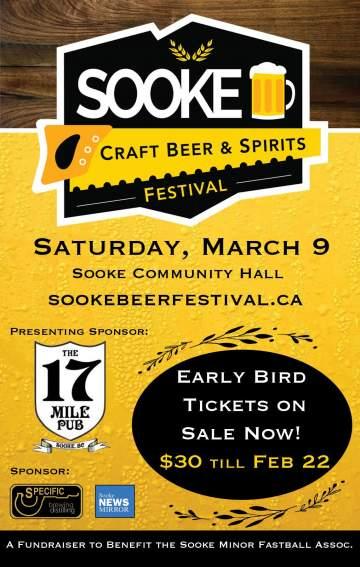 Sooke Craft Beer & Spirits Festival @ Sooke Community Hall