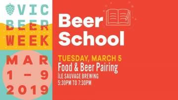 Beer School: Food & Beer Pairing @ Île Sauvage Brewing Co.