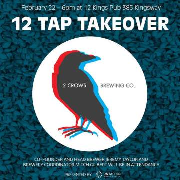 2 Crows Tap Takeover @ 12 Kings Pub