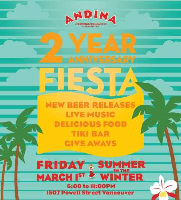 Summer in Winter Festival! @ Andina Brewing Co.