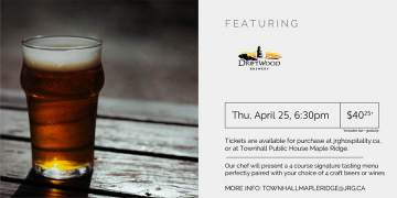 4 Course Driftwood Brewery Beer or Wine Pairing Dinner @ Townhall Public House Maple Ridge |  |  |