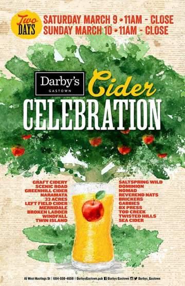 Darby's Cider Celebration @ Darby's Gastown