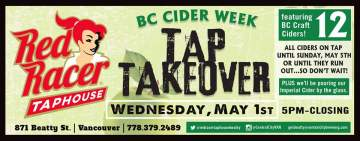 Cider Tap takeover @ Red Racer Taphouse Beatty | Vancouver | British Columbia | Canada