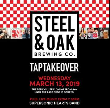 Steel & Oak Brewing Co. Tap Takeover @ The Cascade Room | Vancouver | British Columbia | Canada