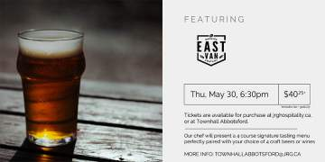 4 Course East Van Brewing Pairing Dinner @ Townhall Public House Abbotsford |  |  |