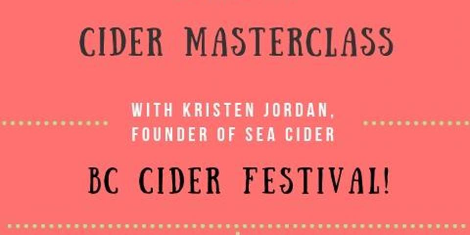 (Sold Out) Cider Masterclass