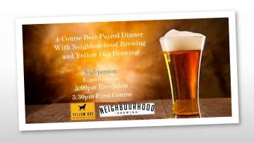 4-Course Beer Paired Dinner @ The Train Station Pub