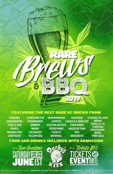 Rare Brews & BBQ 2019 @ Darby's Pub & Liquor Store