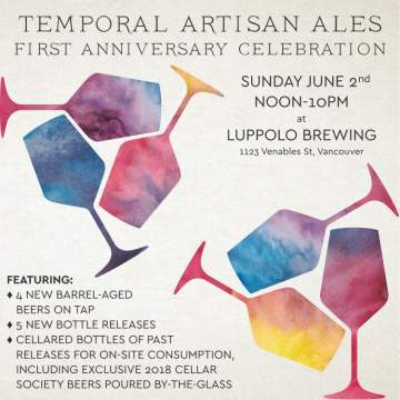 Temporal's First Anniversary Celebration @ Luppolo Brewing Company
