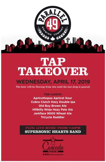 Parallel 49 Tap Takeover @ The Cascade Room