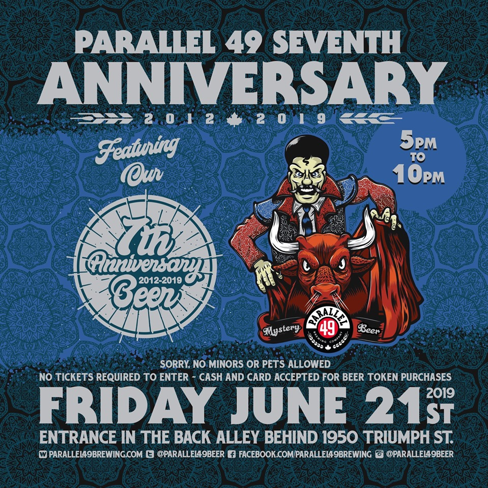 Parallel 49 Brewing Co. 7th Anniversary Party!