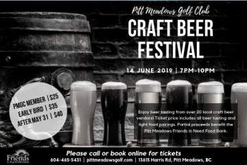 Pitt Meadows Craft Beer Festival @ Pitt Meadows Golf Club