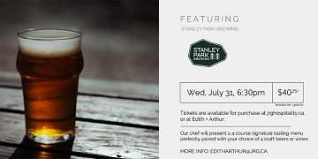 4 Course Stanley Park Brewing Pairing Dinner at Edith + Arthur @ Edith + Arthur | | |