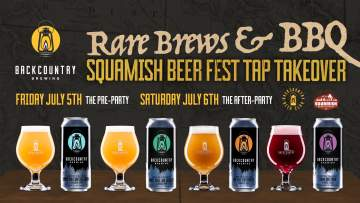 Squamish Beer Fest Tap Takeover: Rare Brews & BBQ @ Backcountry Brewing