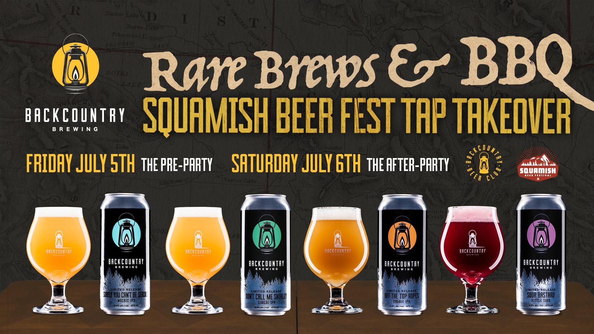 Squamish Beer Fest Tap Takeover: Rare Brews & BBQ