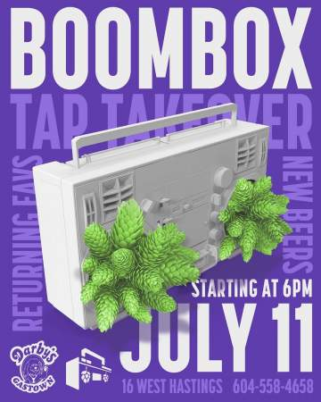 Boombox Tap Takeover @ Darby's Gastown
