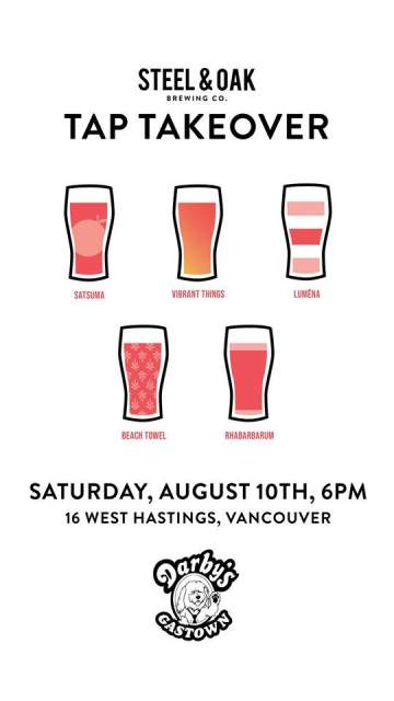 "Steel & Oak ""Beach Party"" Tap Takeover! @ Darby's Gastown"