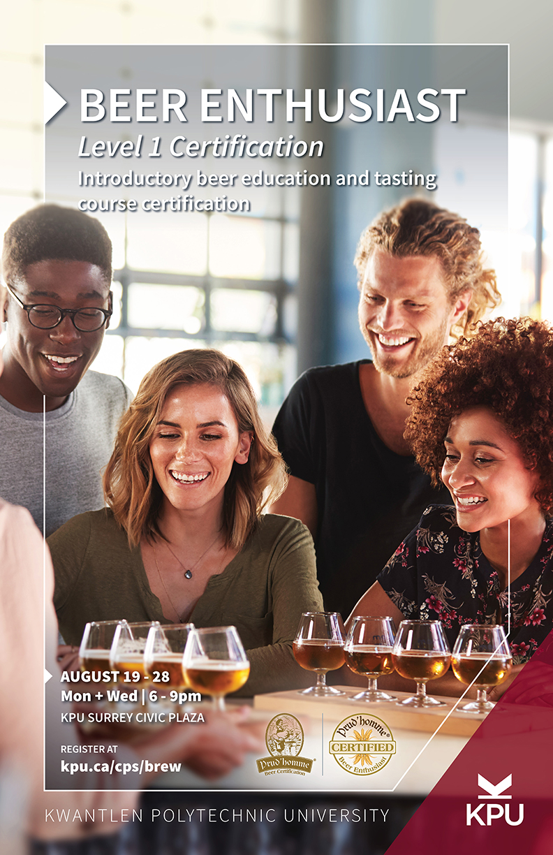 KPU Brew — Beer Enthusiast Level 1 Prud'homme Certification