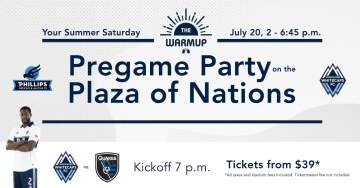 The Warmup - Pregame Party on the Plaza of Nations @ Plaza of Nations |  |  |