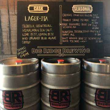 BR Cask Night: Lager-ita @ Big Ridge Brewing Co. |  |  |