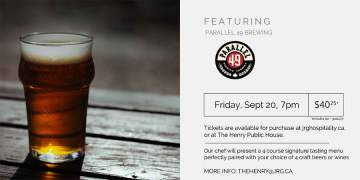 4 Course Parallel 49 Brewing Pairing Dinner at The Henry Public House @ The Henry Public House | | |