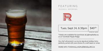 4 Course Russell Brewing Pairing Dinner at Townhall Maple Ridge @ Townhall Public House Maple Ridge | | |