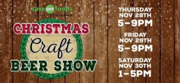 Christmas Craft Beer Show 2019 @ Save-On-Foods Memorial Centre
