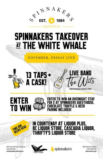 Spinnakers Tap Takeover @ The White Whale