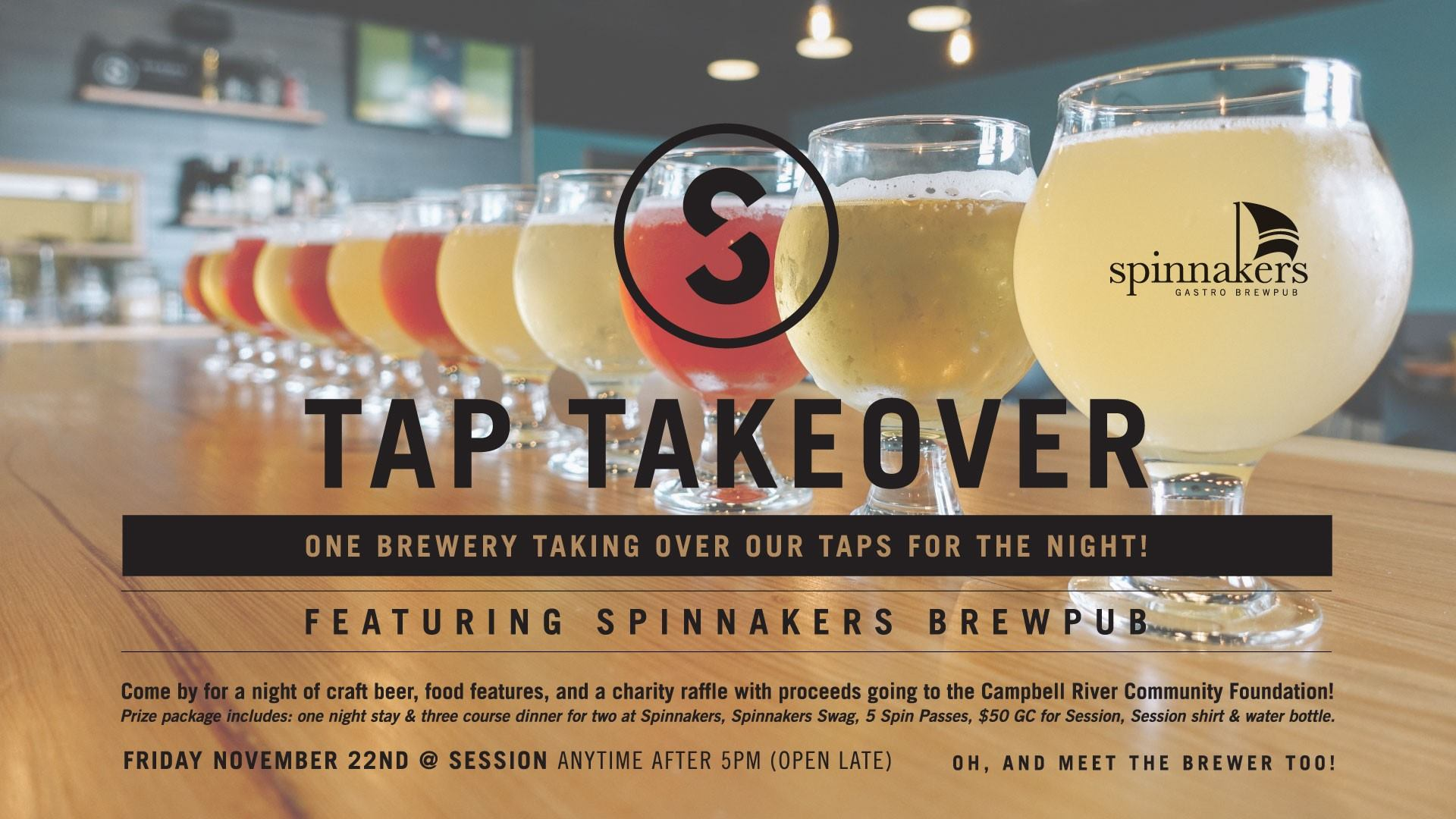 Tap Takeover At Session With Spinnakers Brewpub