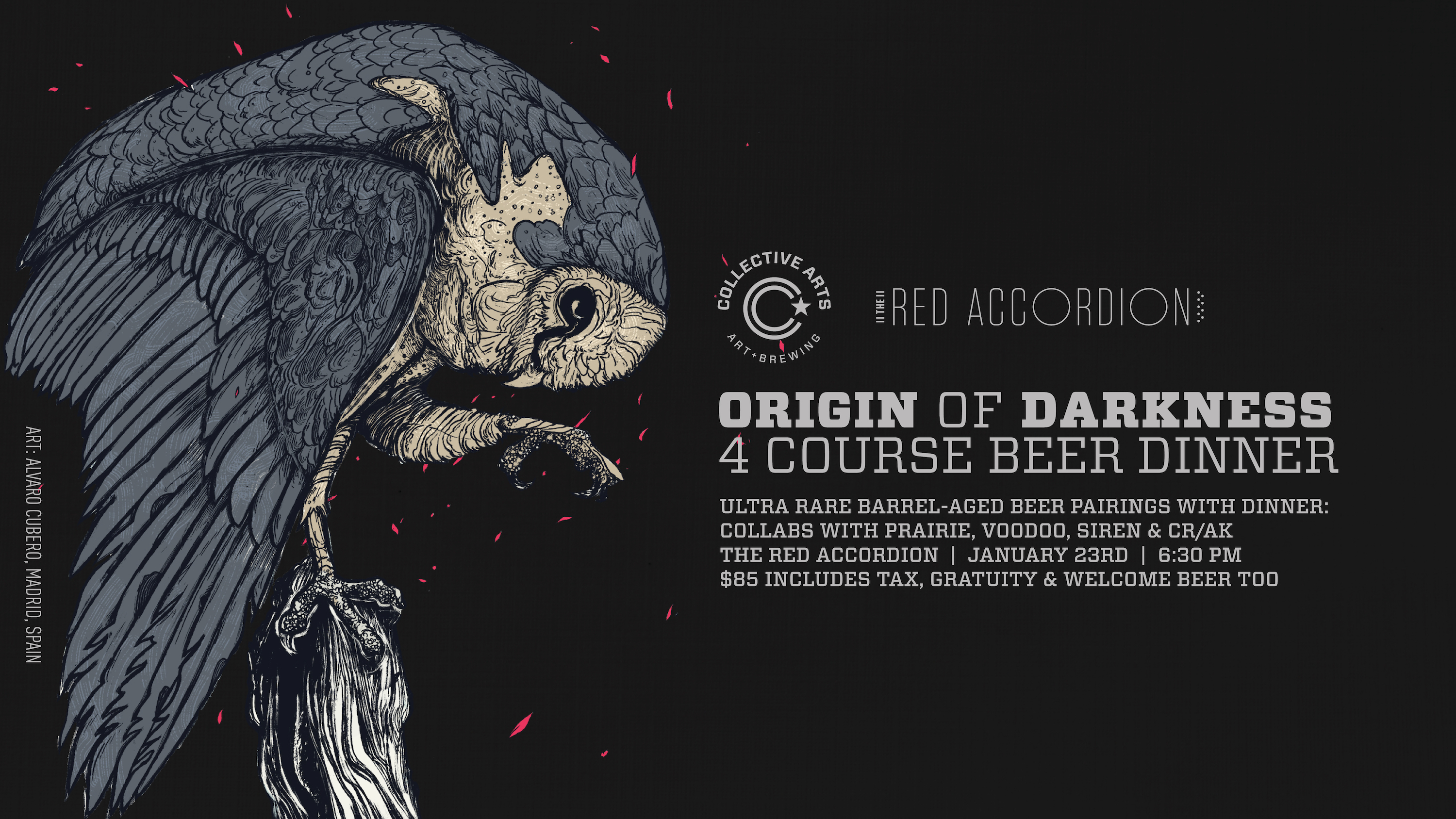 Origin Of Darkness Collective Arts Beer Dinner
