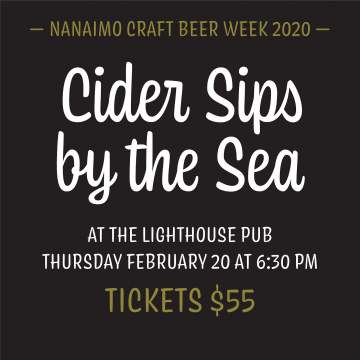 NCBW 2020: Cider Sips by the Sea @ Lighthouse Bistro & Pub | Nanaimo | British Columbia | Canada