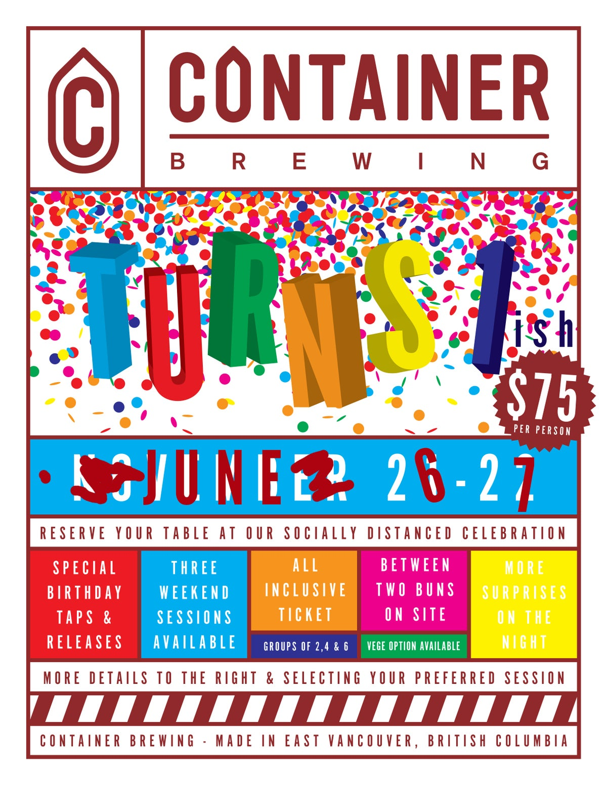 Container Brewing's First'ish Birthday Event